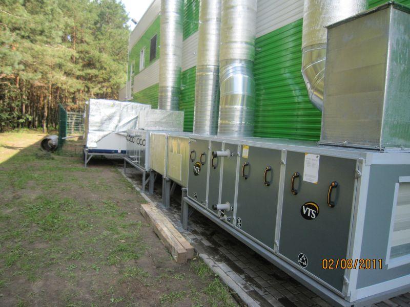Установка систем воздушного отопления, вентиляции и кондиционирования